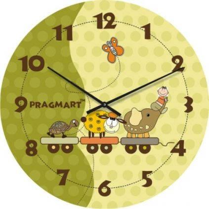 """Часы настенные детские """"Мы едем-едем-едем"""" (300мм) [Стекло, Открытые]"""