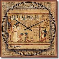 """Часы настенные модерн """"Египетская фреска, египет"""" [Стекло, Открытые]"""