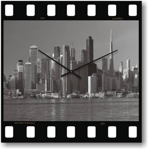 """Часы настенные большие """"Кинолента"""" (450мм) [Стекло, Открытые]"""