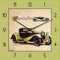"""Часы настенные """"Ретро-Автомобиль-2"""" (300мм) [Стекло, Открытые]"""