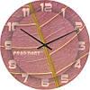 """Часы настенные """"Розовый лист"""" (300мм) [Стекло, Открытые]"""