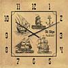"""Часы настенные """"Старые корабли"""" (300мм) [Стекло, Открытые]"""