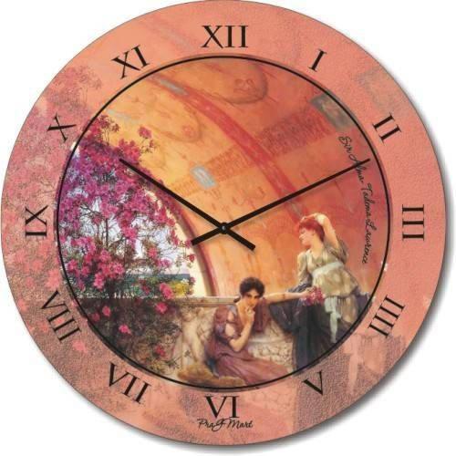 """Часы настенные большого размера """"Невольные Соперницы - Лоуренс Альма Тадема"""" (450мм) [Стекло, Открытые]"""