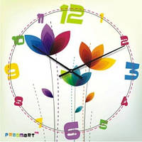 """Настенные часы в детскую комнату """"Цветной микс"""" (300мм)   PraGMart-416-300 [Стекло, Открытые]"""