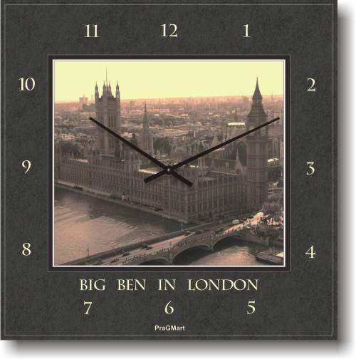 """Часы настенные большие """"Биг Бэн в Лондоне"""" (450мм) [Стекло, Открытые]"""