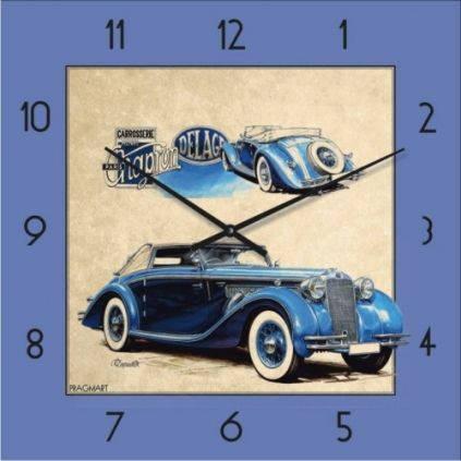 """Часы настенные """"Ретро-Автомобиль-3"""" (300мм) [Стекло, Открытые]"""