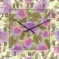 """Большие настенные часы """"Цветочный ансамбль"""" (500мм) [Стекло, Открытые]"""
