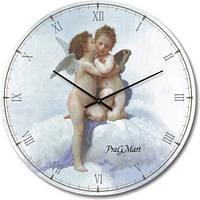 """Часы настенные большого размера """"Ангелочки"""" (450мм) [Стекло, Открытые]"""