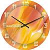 """Большие настенные часы """"Апельсиновая палитра"""" (450мм) [Стекло, Открытые]"""