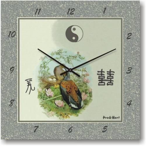 """Часы настенные """"Павлин"""" (300мм) [Стекло, Открытые]"""