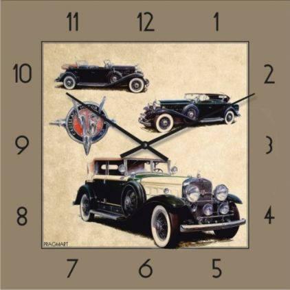 """Часы настенные """"Ретро-Автомобиль-4"""" (300мм) [Стекло, Открытые]"""