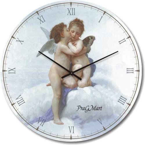 """Часы настенные """"Ангелочки"""" (300мм) [Стекло, Открытые]"""