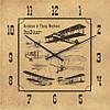 """Часы настенные большого размера """"Аэропланы и летающие машины"""" (450мм) [Стекло, Открытые]"""