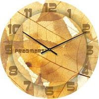 """Большие настенные часы """"Коллаж из листьев"""" (450мм) [Стекло, Открытые]"""