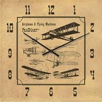 """Часы настенные """"Аэропланы и летающие машины"""" (300мм) [Стекло, Открытые]"""