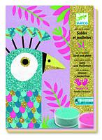 Ослепительные птицы, набор для рисования песком, Djeco