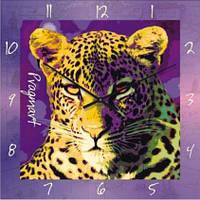 """Часы настенные """"Леопард"""" (350мм) [Стекло, Открытые]"""