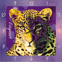 """Часы настенные """"Леопард"""" (300мм) [Стекло, Открытые]"""