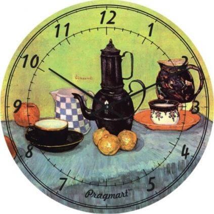 """Часы настенные """"Натюрморт - Винсент Ван Гог"""" (300мм) [Стекло, Открытые]"""