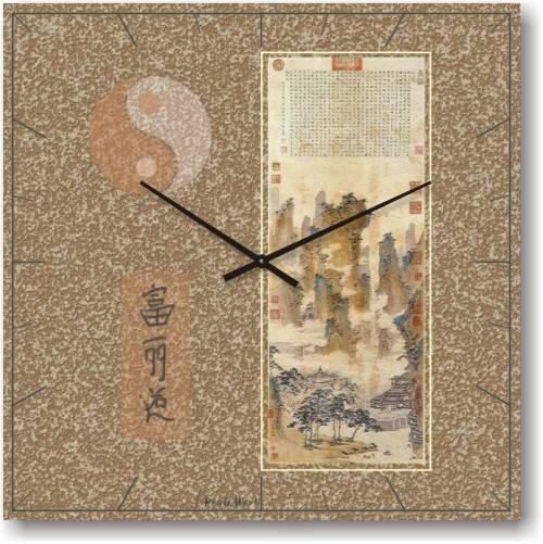"""Часы настенные """"Фен-шуй-7"""" (300мм) [Стекло, Открытые]"""