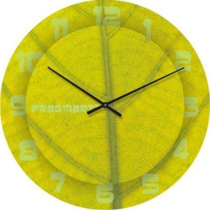 """Часы настенные """"Структура листа"""" (300мм) [Стекло, Открытые]"""
