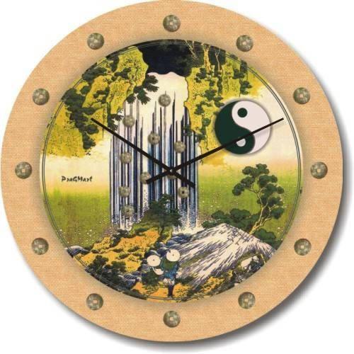 """Часы настенные """"Фен-шуй-8"""" (450мм) [Стекло, Открытые]"""