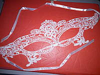Маска ажурная кружевная карнавальная для эротических игр белая