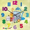 """Часы настенные детские """"А вот и мы!"""" (450мм) [Стекло, Открытые]"""