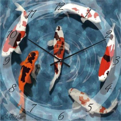 """Часы настенные """"Рыбки"""" (450мм) [Стекло, Открытые]"""