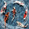 """Часы настенные """"Рыбки"""" (350мм) [Стекло, Открытые]"""