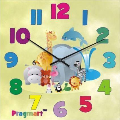 """Часы настенные детские """"А вот и мы!"""" (300мм) [Стекло, Открытые]"""