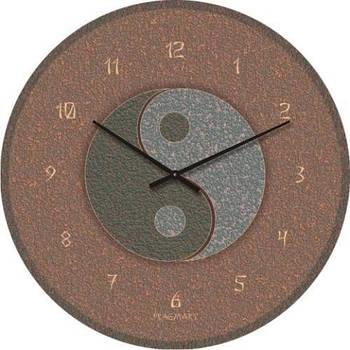 """Часы настенные """"Инь-Янь"""" (300мм) [Стекло, Открытые]"""