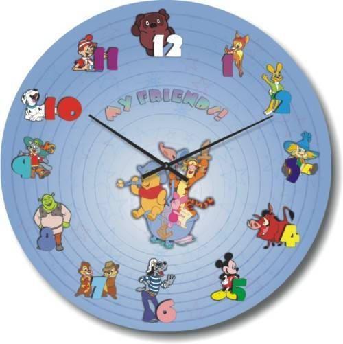 """Часы настенные детские """"Мои друзья"""" (300мм) [Стекло, Открытые]"""