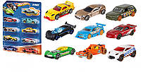 Набор Hot Wheels Basic Multi-pack Vehicles. Базовые машинки Хот Вилс на листе.