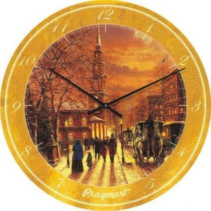 """Часы настенные """"Картина Джека Терри"""" (300мм) [Стекло, Открытые]"""