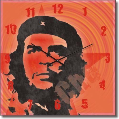 """Часы настенные """"Че Гевара"""" (300мм) [Стекло, Открытые]"""