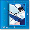 """Часы настенные """"Голубая фантазия"""" (350мм) [Стекло, Открытые]"""