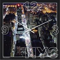 """Часы настенные большие """"Нью-Йорк"""" (450мм) [Стекло, Открытые]"""