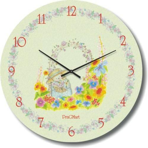 """Часы настенные детские """"Нежность"""" (300мм) [Стекло, Открытые]"""