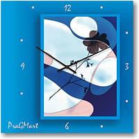 """Часы настенные """"Голубая фантазия"""" (300мм) [Стекло, Открытые]"""
