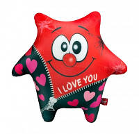 Мягкая игрушка антистресс Звезда красная 23х23 см