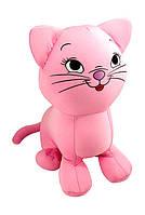 Мягкая игрушка антистресс Котенок розовый 30х25 см