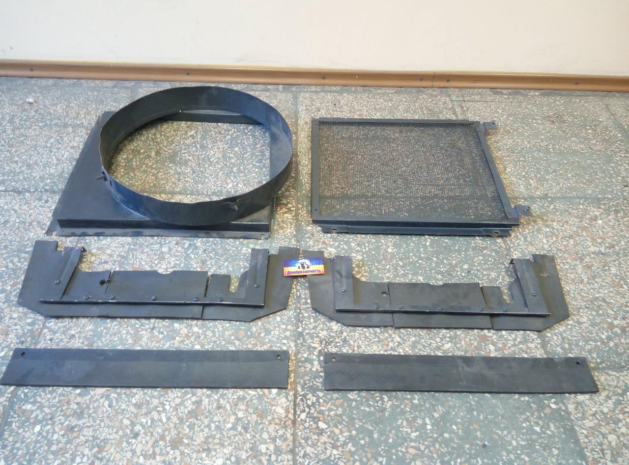 Кожух вентилятора ЮМЗ | Установка дифузора на радиатор трактора ЮМЗ