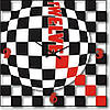 """Большие настенные часы """"Черный-белый-красный"""" (450мм) [Стекло, Открытые]"""