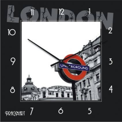 """Часы настенные большие """"Лондон"""" (450мм) [Стекло, Открытые]"""