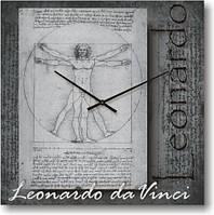 """Часы настенные большого размера """"Золотое сечение - Леонардо Да Винчи"""" (450мм) [Стекло, Открытые]"""