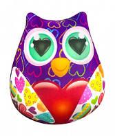 Мягкая игрушка антистресс Сова с сердцем 23х24 см