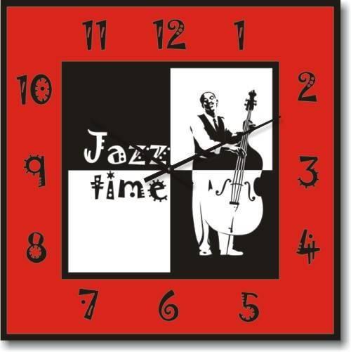"""Большие настенные часы """"Время джаза"""" (450мм) [Стекло, Открытые]"""