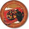 """Кухонные настенные часы """"Натюрморт с кувшином"""" (450мм) [Стекло, Открытые]"""