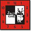 """Часы настенные """"Время джаза"""" (350мм) [Стекло, Открытые]"""